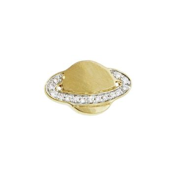 Pavé Diamond Saturn Stud Earring