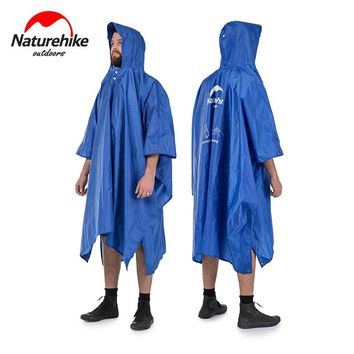 NH Multifunction 210T Polyester Shade Cloth Waterproof Mat Poncho Raincoat For Outdoor Hiking Fishing Riding Mountaineering