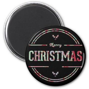 Merry Christmas Greeting Magnet