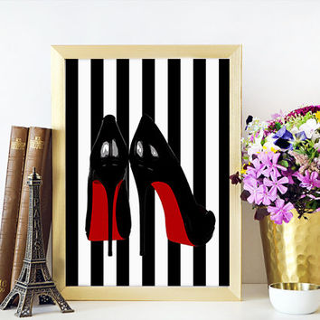 SHOES PRINT Fashion Print,Shoes Wall Art,Shoe Print,Closet Print,Shoe Art,Closet Art,High Heels,Birthday Gift,Gift For Wife,Gift For Her