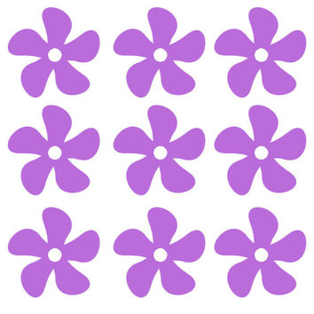 25 Pack Flower Decals - Flower Vinyl Stickers - C2170