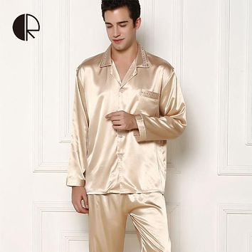 CR New Arrival Men's Summer Silk Casual Pajama Sets