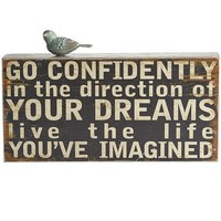 Go Confidently Wall Decor