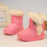Winter Children Boots Thick Cotton Padded Shoes