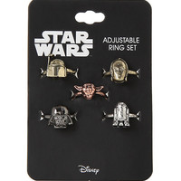 Star Wars Characters Adjustable Ring Set