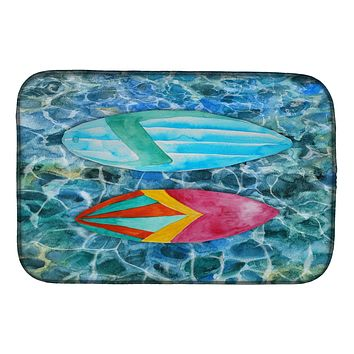 Surf Boards on the Water Dish Drying Mat BB5366DDM