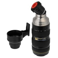 Thermo LenZcup, Stainless Steel Insulated, Travel Thermos w/ Cup (Modeling Nikkor AF-S 70-200mm f/2.8G ED VR II Lens), 16oz