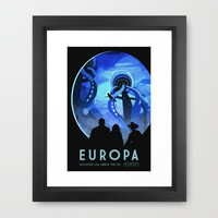 Europa Space Travel Retro Art Framed Art Print by Art Gallery | Society6