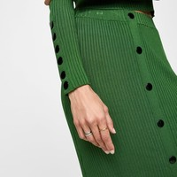 RIBBED SKIRT WITH BUTTONS DETAILS
