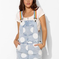 Lazy Oaf Over The Rainbow Denim Overall Dress - Urban Outfitters