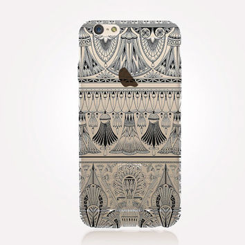 Transparent Egyptian Pattern iPhone Case- Transparent Case - Clear Case - Transparent iPhone 6 - Transparent iPhone 5 - Transparent iPhone 4