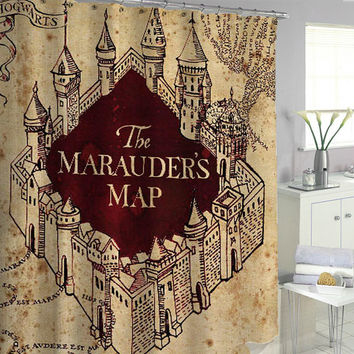 marauder's map Shower Curtains