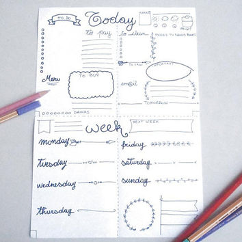 2 x A5 printable bullet journal weekly daily planner agenda travel day journaling office home plan organizer work download lasoffittadiste