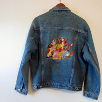 Vintage Disney Denim Jacket Warner Bros. Looney Tunes Characters Jean Jacket Unisex Mens Womens