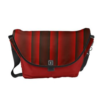 Red and Black Stripes Courier Bag