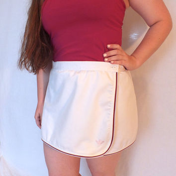White Adidas Tennis Skirt/Circle Skirt