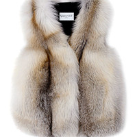 Natural Volpe Fawn Light Fur Gilet by Vionnet - Moda Operandi
