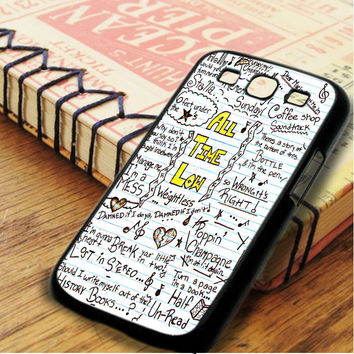 All Time Low Art Music Qoutes Lyric Samsung Galaxy S3 Case