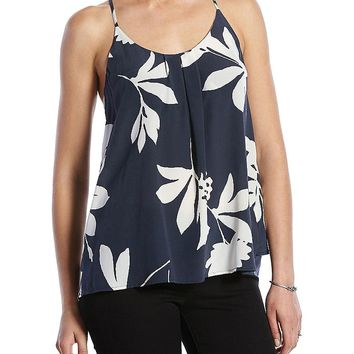 Lucky Brand Silk Vines Tank Womens