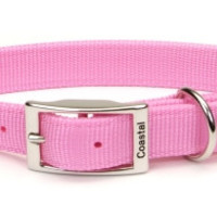 Coastal Pet Double Ply Deluxe Large Dog Collar 1 inch x 22 inch Pink