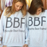 BBF-Blonde Best Friend-Brunette Best Friend-BFF- Tri blend T Shirt-Funny-Women's = 1958340612