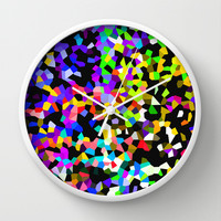 CRYSTAL CLEAR Wall Clock by catspaws