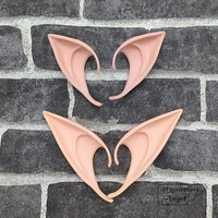 Mysterious Angel Elf Ears fairy Cosplay Accessories LARP Halloween Party Latex Soft Pointed Prosthetic False ears Free shipping