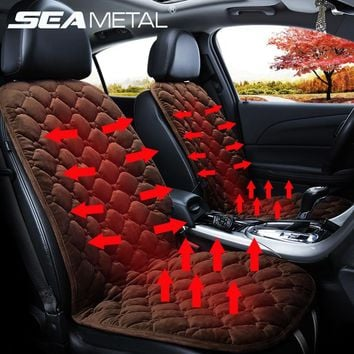 Heated Seat Car 12V Automobiles Cover Heating Pads Cushion Universal Electric Goods Winter Warm Back Seat Heat Auto Accessories