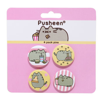 Pusheen Snacks Pin Set