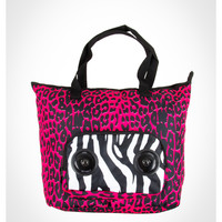 Pink Leopard Audio Tote Bag