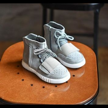 Baby Kids Girls Boys Casual Flats Lace Up High Tops Shoes Sneaker = 1705273412