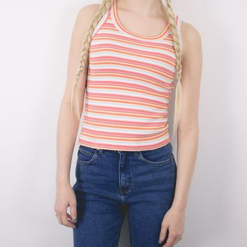 Vintage 90s Striped Sleeveless Shirt