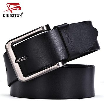 High Quality Genuine Leather Men Designer Belt Strap  Fashion Pin Buckle Jeans Casual Male Metal Home