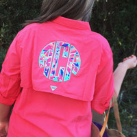 Women's Columbia Fishing Shirt with Double Lilly Pulitzer Monogram