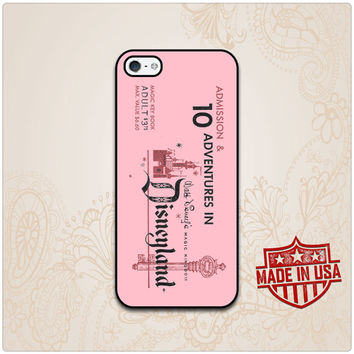 Pink Disney Land Vintage Ticket iPhone 6 case, iPhone 5 case, iPhone 5s case, iPhone 5c case and Galaxy s3, s4, s5, Note 3, 4