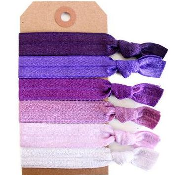 Purple Ombré Hair Tie Set