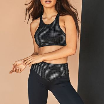 Olympia Activewear Ophelia Mesh Bra in Jet