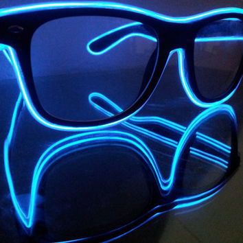 Sound Activated light up glasses, light up stunner shades, Moxie Glares