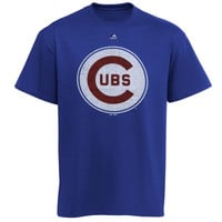 Chicago Cubs Majestic 1969 Distressed Logo T-Shirt - Royal Blue