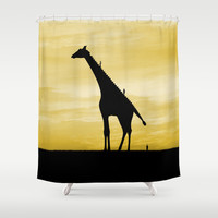 Evolutionary ladder Shower Curtain by Tony Vazquez