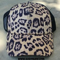 Black and Leopard Baseball Cap