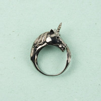 Unicorn Rhodium Ring