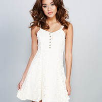 Girly Crochet Fit & Flare Dress | Wet Seal
