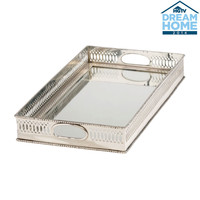 Traditional Mirrored Silver Tray - Ethan Allen US