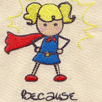 Super Hero girl embroidered ONSIES by MorningTempest on Etsy