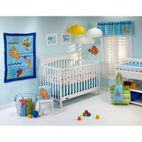Disney Baby Finding Nemo Wavy Days 4-pc. Crib Bedding Set (Blue)