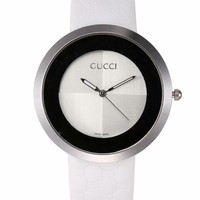 Gucci Women Men Watchband Mark Print watches fashion watches B-CTZL White