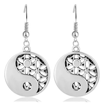 Myth Love Knot Supernatural Flower of Life Egyptian Jewelry Simple Tai Chi  Jewelry Women Earrings