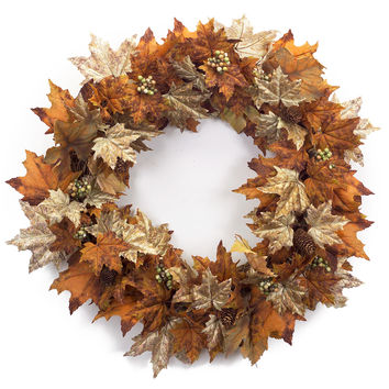 Falling Leaves Collection Grape Leaf Wreath