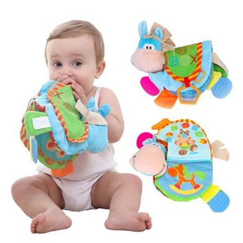 4 Pages 22cm Baby Cloth Book Toy Infant Quiet Book Toys Animal Doll Teether With BB Early Development Toy Learning & Education